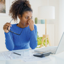 Woman taking a nutritional supplement