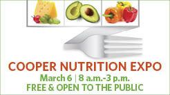 Cooper Nutrition Expo, March 6, 8 a.m.-3 p.m.