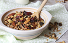 Crunchy Cranberry Almond Granola with Maple Syrup and Vanilla