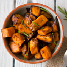 Roasted Garlic and Chili Pepper Sweet Potatoes