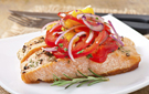 Fatty Acid-Packed Salmon with Tomatoes and Mushrooms Recipe