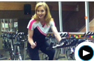 Cooper Group Instructor Demonstrates Correct Cycling Posture Video