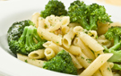 Whole Wheat Penne Pasta with Garlic, Broccoli and Parmesan