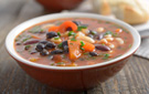Hearty and Healthy Vegetarian Southwest Black Bean Soup Recipe