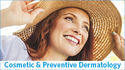 Cosmetic & Preventive Dermatology - woman wearing a wide-brimmed hat smiling