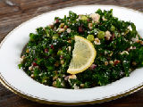 Moroccan Style Farro with Kale