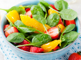 Strawberry Grapefruit Spinach Salad